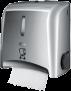 x Non-touch Handtuchspender mit automatischem Abreißsystem, Edelstahl-Look