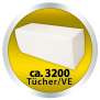 x by Euroseptica Hygiene-Papierhandtücher Lux 25x23 cm, Zellstoff, mit der sparsamen ZZ-Falz, 2-lagig verleimt - Palette