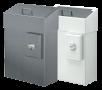 x Hygiene-Abfallbehälter mit Schleusenklappe und Hygienebeutelhalter, 10 Ltr