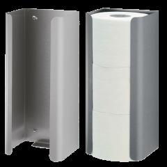 halterung f r 3 ersatzrollen wc papier aus geb rstetem edelstahl euroseptica hygiene shop. Black Bedroom Furniture Sets. Home Design Ideas