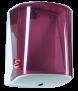 Spender ø 21,5 cm, für Innenabrollung, Farbe: rot-transparent