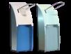 x Euroseptica Spender für Seife und Desinfektionsmittel, blau- oder klar-transparente Abdeckung, 500 ml
