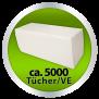 Papierhandtücher Recycling, 1-lagig ZZ-Falz, 25x23 cm - natur