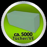 x by Euroseptica Falthandtücher-Handtuchpapier Recycling, ZZ-Falz, 25x23 cm - 1-lagig -grün
