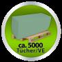 x by Euroseptica Falthandtücher-Handtuchpapier Recycling, ZZ-Falz, 25x23 cm - 1-lagig - grün -