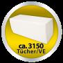 Hygiene-Papierhandtücher Lux 21x24 cm, Zellstoff, mit der sparsamen ZZ-Falz, 2-lagig verleimt - Palette (32 VE)