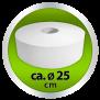 Euroseptica Toilettenpapier - Jumborollen - Jumbotoilettenpapier Recycling, 2-lagig,Durchmesser ca. 25cm