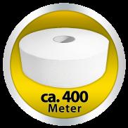 Toilettenpapier - Jumborollen Hochweiss Standard Qualität mit Porenprägung- 2-lagig