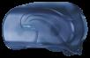 Toilettenpapierspender für 2 Standardrollen im Oceans Style, Farbe: Eisblau transparent