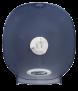Toilettenpapierspender für 4 Standardrollen, Farbe: Eisblau transparent
