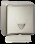 Handtuchpapierspender - INOX Falzpapierspender aus gebürstetem Edelstahl, für 350 Tücher
