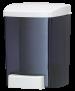 Seifenspender für 0,9 L Flüssigseifen und Lotionen im Classic Style, Farbe: perl-schwarz transparent