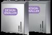 x Handtuchpapierspender DUO LINE, edles Design, gebürstet oder glänzend